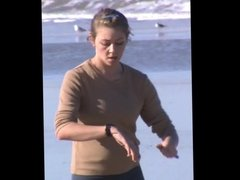 Spy beach pokies slow motion jogger
