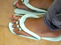 Hood Chick Red Toenails