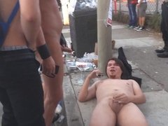 Fetish action on the street