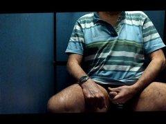 Public toilet cubicle, a quick wank