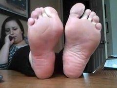 bbw feet soles her mature feet Nice
