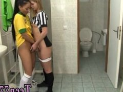 Fireside lesbians Brazilian player pulverizing the referee