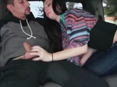 in the car blowjob
