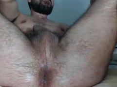 Masturbating Turkey-Turkish Dildo Guy Okan Plays