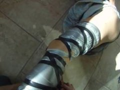 Housewife Julia taped up