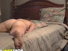 Horny BBW plays with her cunt