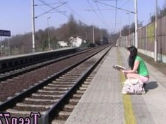 Amateur teen blowjob cam Masturbating at the instruct station