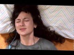 Beautiful Agony - Brunette with Headphones Masturbates to Orgasm