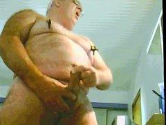 grandpa play and cum on cam