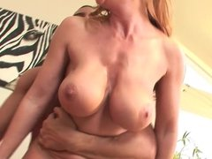 Top mature milf redhead in stockings fucks great 2
