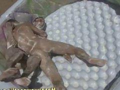Beach guys nude wrestling 3
