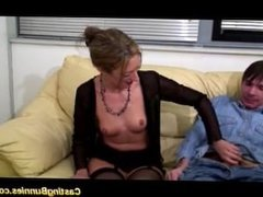 French girl first casting video