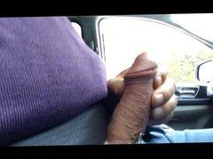 public handjob in the car