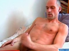 A nice innocent guy serviced his big cock by a guy in spite of him!