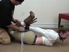 High heeled boots bondage