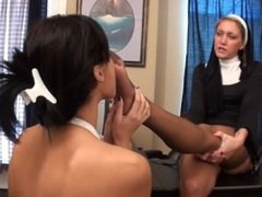 Nun Makes Student Sniff Her Nylon Feet