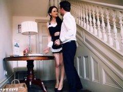 Naughty Maid Tina Kay Gets A Mouthful Of Cum