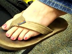 Leather Sandals and Pink Toenails