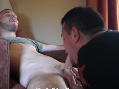 Room service for sexy slim straight dude
