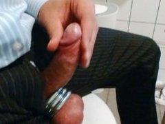 jerking in public toilet