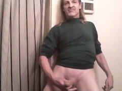 9 inch hard cock cums in bathroom