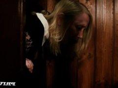 Nympho Blonde Satine Spark Is Cleansed By The Priest Big Dick