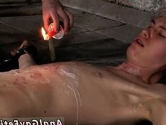 Tiny nude dick gay first time Chained to the warehouse floor and unable