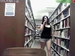 BIG boobs sexy tease in the library - lickmycams.com