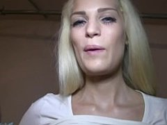Blonde with amazing ass fucked in underground car park