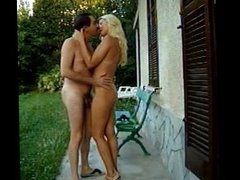 I play with my brother cock outdoor
