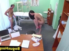 Euro amateur pussylicked and fucked by doctor