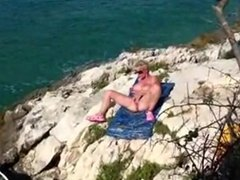 Blonde Mom Fucks And Sucks On A Beach
