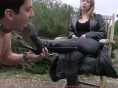 mistress t's boot slave