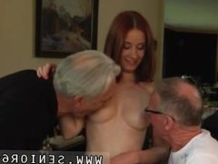 Threesome anal ass hd Minnie Manga slurps breakfast with John and David.