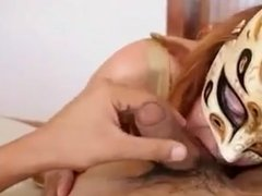 Mexican MILF with great butt and tits sucks and fucks