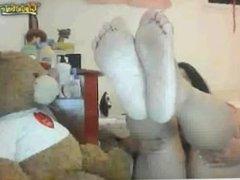 Phillippian Mature Show Me her Soles Foot on Webcam