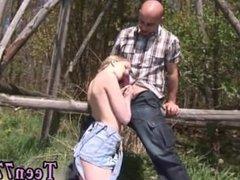 Teen titfuck first time Abby deepthroating man rod outdoor