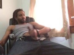 Secret Security Webcam Catches Teen Boy Wanking In Step Dads Office...LMAO!
