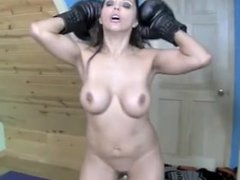 Francesca Le Boxing Pornstar Stripped Nude and Knocked Out