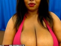 Big tits Latin woman webcam