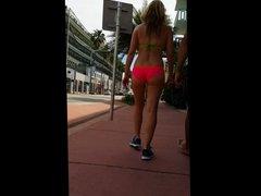 amazing blonde pink bikini ass