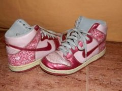 Trampling in High Pink Dunk Nike