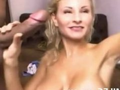 hot blond MILF sucking cock and getting fucked - hornymilfcams.eu