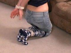 Tied up in argyle socks