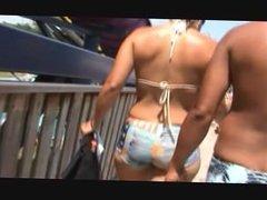 sexy butt in beach candid voyeur butt grabbed