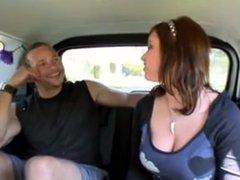 Latina gets banged inside a van