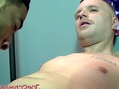 Hot black dude devours white guys cock and makes him cum