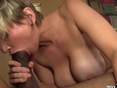 Busty Blonde Babe Fucked Hard By Huge Black Cock!