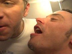 Cum Hungry Guys Kissing & Sharing a Big Load