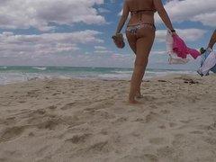 mature tight ass at beach